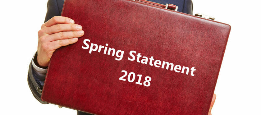The Government's Spring Statement 2018: what you need to know